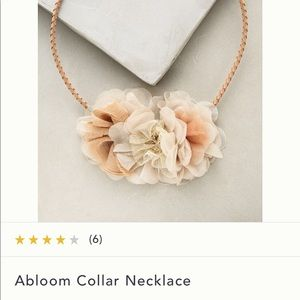 Anthropologie Abloom necklace. EUC. Stunning!